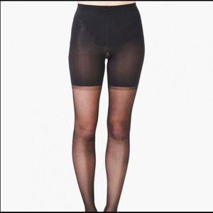 Spanx black tights size F